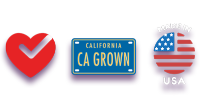 Heart Healthy, CA Grown, Made in USA