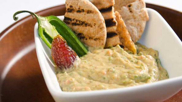 Medjool Date, Chile, and Yogurt Dip